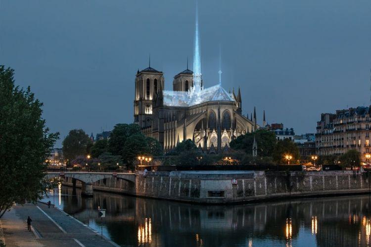 """中国方案勇夺""""巴黎圣母院屋顶重建设计竞赛""""冠军"""