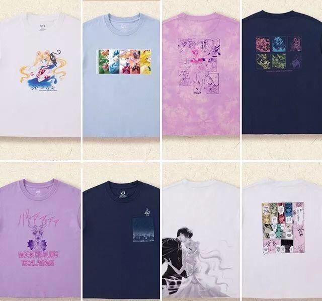 优衣库推出美少女战士联名款T恤,8月23日起发售