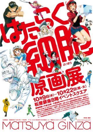 《工作细胞》的史上最大规模原画展将在东京和爱知举办
