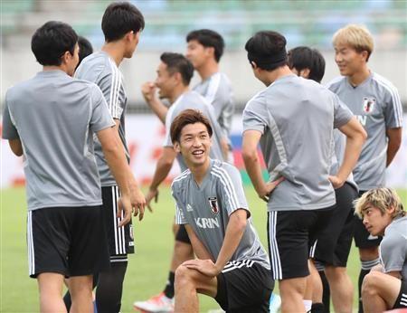 为迎接F组初赛,日本足球代表队进行调整练习