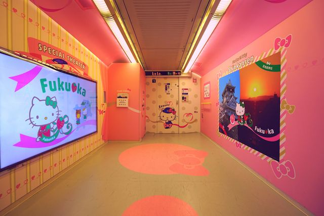 日本Hello Kitty 新干线开通啦!萌点满分!