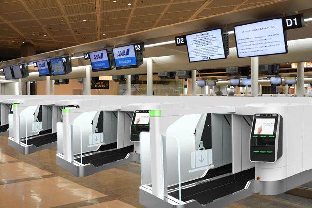 全日空(ANA)成田机场国际航线将使用自动行李托运机