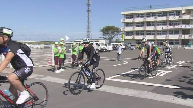 自行车环游东日本大地震受灾区活动