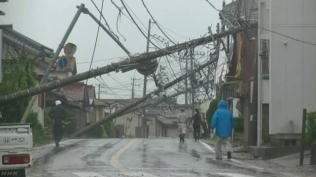 台风15号造成的受灾额度高达267亿日元,为过去10年最高值