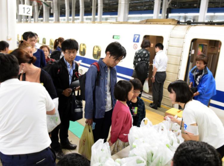 JR山阳新干线受台风影响无法正常运营