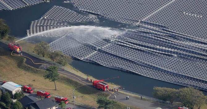 日本最大水上太阳能发电厂失火,新能源产业再碰壁