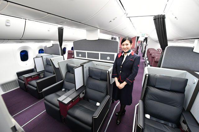 日本航空(JAL)国内航线首次启用波音787-8机型,头等舱配备豪华