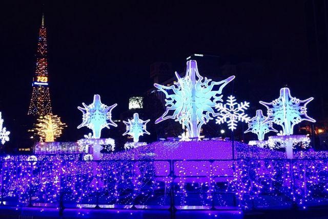 """""""札幌白色灯树节""""22日展出,将持续到圣诞节"""